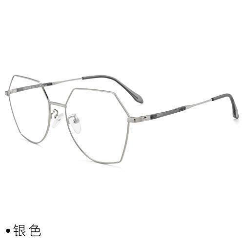 CFLFDC Sonnenbrillen Myopia Glasses Frame Glasses Frauen Net Rot Vegetarisch Yen Xian Gesicht Dünn Mit Myopie-spiegel-rahmen Mann 1,74 (ultradünn) das Silber
