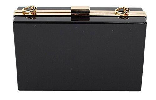Peyviva-Ciuccio, da femmina opportuno, Evening Clutch Bag Handbags Wristlets Purses, nero (Nero) - UK-WYB096-Black nero