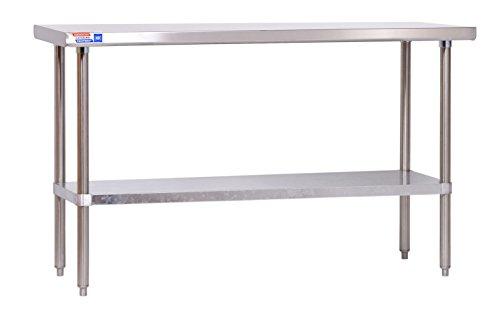 Flat-top-arbeitstisch (Edelstahl Tisch-1524x 610x 914mm (152,4x 61x 91,4cm) Flat Top-kein Aufkantungen.)