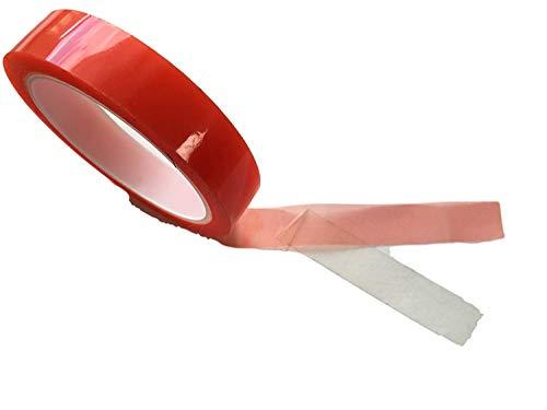es Klebeband EXTRA STARK Sticky Tape - Durchsichtig Dünn - Doppel-Band Klebefolie Montage Band - Innen & Außen Bau Werkstatt Haushalt 5mm o. 10mm o. 15mm o. 20mm (7mm) ()