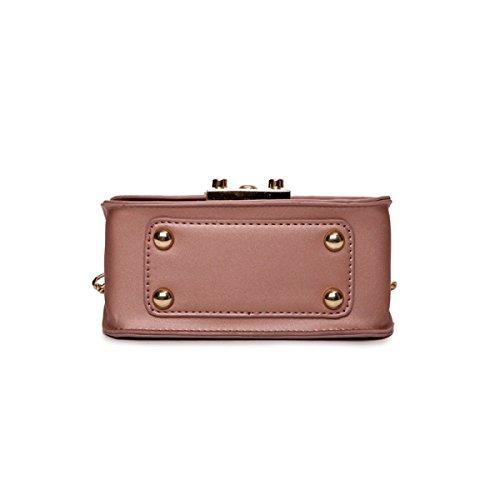 Kette Kleine Quadratische Tasche Schultertasche Messenger Bag,Pink Green