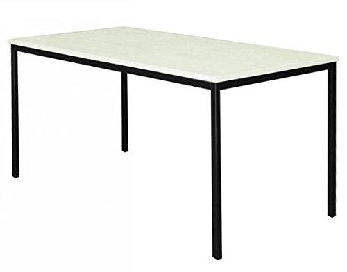 Ahorn Stahl Schreibtisch (Schreibtisch Ahorn Dekor Besprechungstisch Büromöbel Verkaufstisch Vielzwecktisch 120x80 331032)