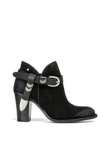 Replay Women's Women's Suede Black Ankle Boots 100% Leather Black