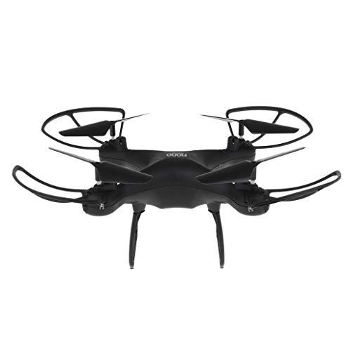 Fenteer WiFi RC Hubschrauber Drohne Flugzeug mit HD Kamera für Indoor Outdoor - Schwarz