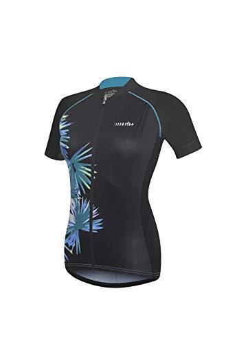 R/H Venus W, Fashion Lab Bike Jersey für Damen, Damen, ECD0469 02WS, Black - Pastel Water Palm Print, S -