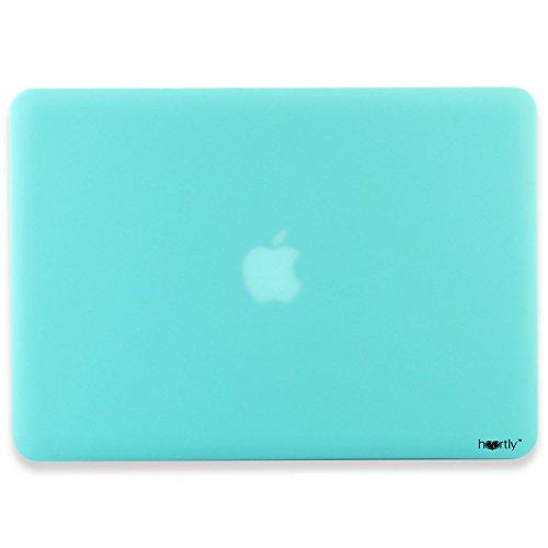 "Heartly Premium MacBook Flip Thin Hard Shell Rugged Armor Hybrid Bumper Back Case Cover For MacBook Air 11"" inch A1370 / A1465 - Light Blue"