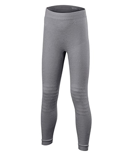 FALKE Kinder Wool-Tech Long Tights Kids Sportunterwäsche, Grey-Heather, 170-176 -
