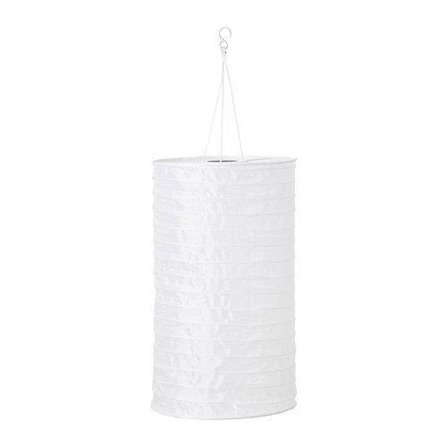 IKEA Solvinden Solarhängeleuchte Röhrenförmig Weiss 28 cm