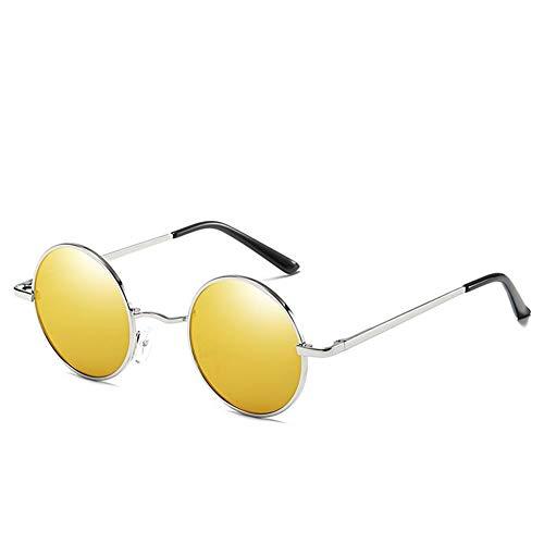 AORON Sonnenbrille Für Herren Und Damen, Klassische Polarisierte Sonnenbrille, Aluminium-Magnesium-Legierung, Klassisches Polarisiertes Licht, UV-Schutz,goldfilm