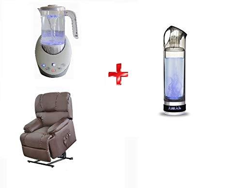 Deluxe | Botella de Agua Portátil Hidrogenada | Hidrogenador de agua Portátil | Agua Hidrogenada | 500ml de capacidad | Purificador de Agua con Hidrógeno | Pantalla Led | Propiedades Antioxidantes
