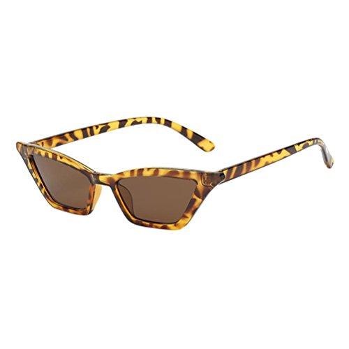 Makefortune Frauen Sonnenbrillen, Frauen-Weinlese-Katzenaugen-Sonnenbrille-Retro- kleiner Rahmen UV400 Eyewear arbeiten Damen-Gläser um (B)