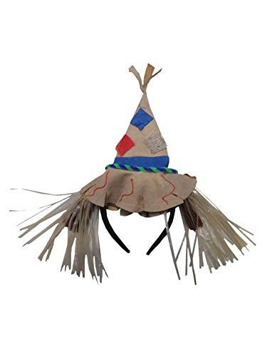 Karnevalsbud - Kostüm Accessoires Zubehör, Vogelscheuche Hut, Diadem with Scarecrows Hat, perfekt für Halloween Karneval und Fasching, (Einfach Scarecrow Kostüm)