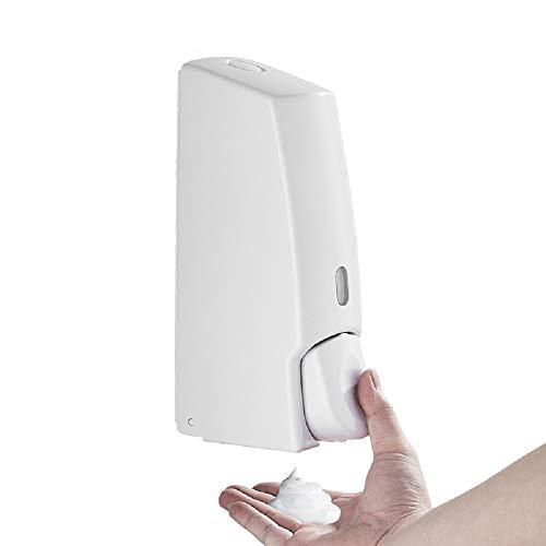 WJP Hotel Wand-Handseifenspender aus Schaumstoff, Badpresse zum Seifenspender, Händedesinfektionsmittel,Weiß,500 ml