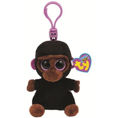 Ty 7136546 - Ty Plüsch - Beanie Boos - Romeo Boo Clip - Gorilla 8,5cm