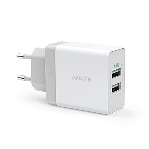 Anker 24W 2 Port USB Ladegerät mit PowerIQ Technologie, Reise Ladegerät für iPhone 7 / 6s / Plus, iPad Air 2 / mini 3, Galaxy S Series, Note Series, LG, Nexus, HTC usw