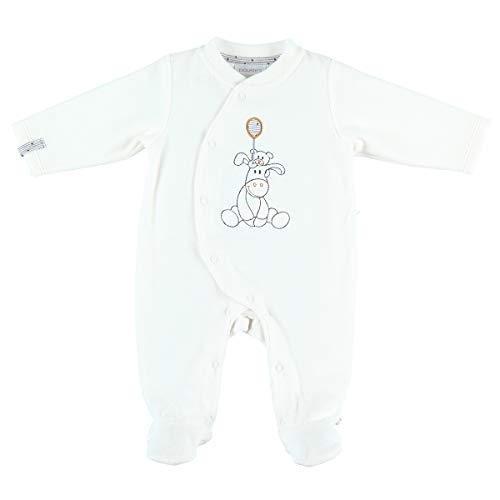 Noukie's Noukies Pyjama grenouillère en Velours Bébé Garçon Blanc 18M