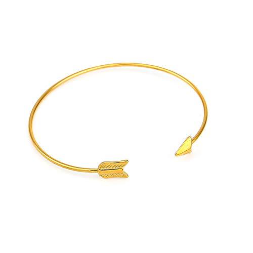 Paar Amor Kostüm - QWQ69 Damenarmband Pfeil Offenes Armbänder Liebesgott Amor Pfeil Armband Minimalistisches Design Paar Zubehör