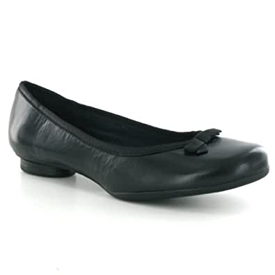 Clarks Cocoa Creme Black Leather Womens Shoes Size 37 EU