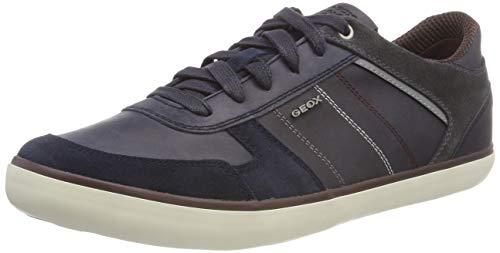 Geox Herren U Box C Sneaker, Blau (Navy/Dk Burgundy Cf47j), 40 EU