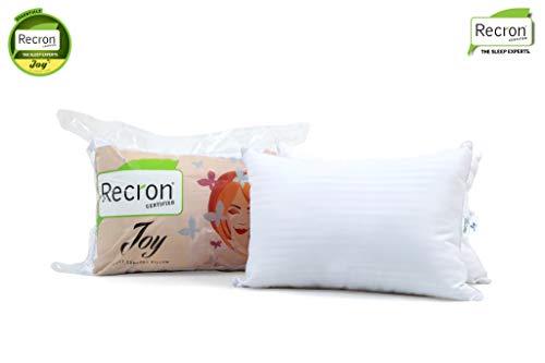 Recron Certified Joy Fibre Pillow - 41 cm x 61 cm, Pack of 2, White