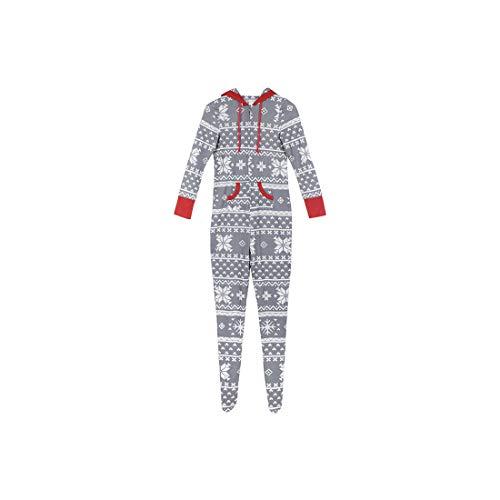 Zhhlaixing Familien-passende Weihnachtspyjamas Freizeitkleidung Mama Papa Kinder Hoodies Nachtwäsche EIN Stück Footed Loungewear