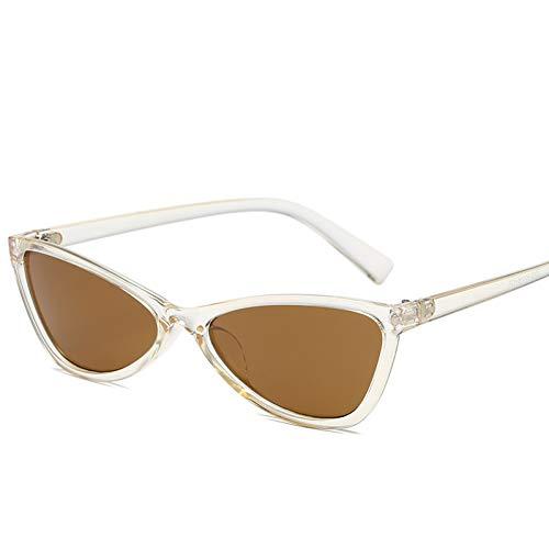 GJYANJING Sonnenbrille Sunglases Langlauf Neue Sonnenbrille Metall Scharnier Dreieck Katzenauge Mode Sonnenbrille Hip-Hop SonnenbrilleFoe Frauen