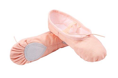 Elfin-lore scarpette danza ballet classica ragazze donna scarpe da ballo di tela con suola in pelle per ginnastica yoga eu 34