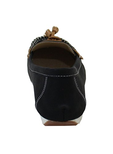 By Shoes Mocassin Plate Style Cuir - Femme Noir