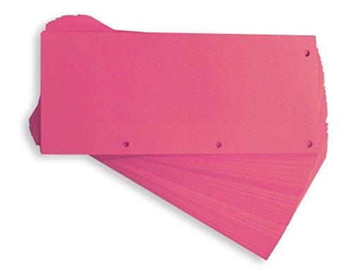ELBA 400014011 Karton-Trennstreifen DUO 60 Stück Trennlaschen Trennblätter Ordner Register Blauer Engel pink