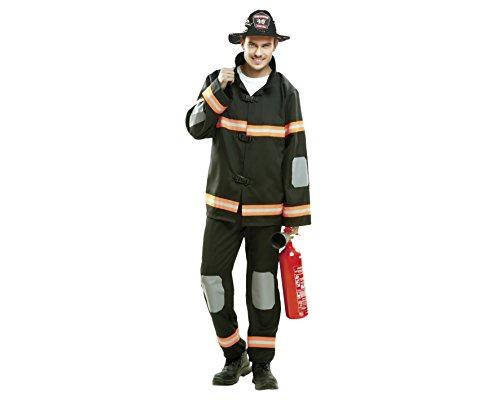 Costume Pompiere Uomo Nero L