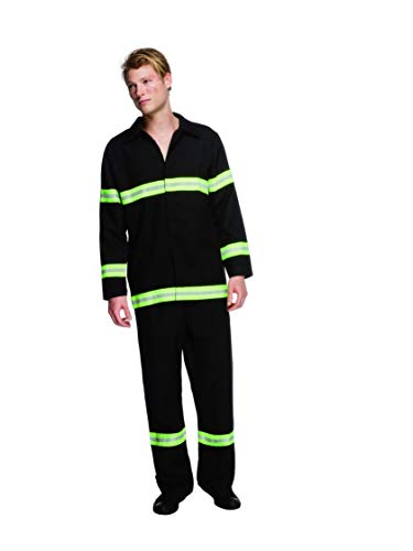 Fever, Herren Feuerwehrmann Kostüm, Jacke und Hose, Größe: M, ()