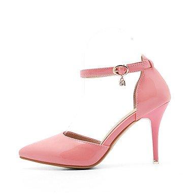 LvYuan Da donna-Sandali-Ufficio e lavoro Formale Casual-Comoda-A stiletto-Finta pelle-Rosa Rosso Bianco Tessuto almond White