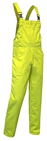 KERMEN - Arbeits-Latzhose Hamburg Kombi-hose 260GR Berufskleidung - Größe: 46, Farbe : NEON Gelb
