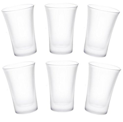 24 Schnapsgläser-Set Wodka-Whiskey-Glas Pinnchen Matt Milchglas Vodka-Schnapsglas 2cl Tequila-Shot Schnaps-Glas Shot-Gläser Bar-Schnapsglas