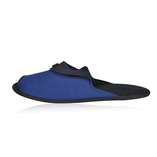 travelmall Unisex Tragbarer, faltbarer Hausschuhe Travel rutschfeste Hausschuhe Strand Schuhe mit Speicher Tragetasche, Textil, blau, M blau