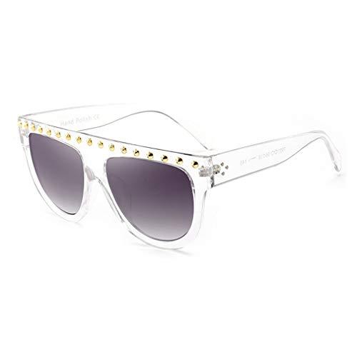 Mxssi DamenMode Flache Oberseite Super Future Sonnenbrille Retro Vintage Shades C7
