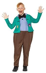 Smiffys 41544M Roald Dahl disfraz de Augustus Gloop, verde, tamaño mediano, UK 7-9