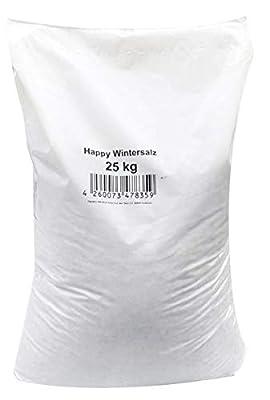 Hamann Mercatus GmbH Happy-Wintersalz - Splitt-Salzgemisch 25 kg - Quarzedelsplittgemischt mit Deutschen Steinsalz - Streusalz - Auftausalz