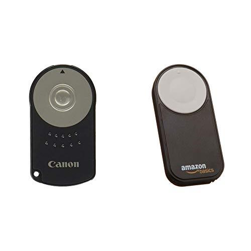 Canon RC-6 Infrarot-Fernauslöser & AmazonBasics Fernauslöser für Canon EOS 650D / 600D / 550D/ 500D / 400D / 350D / 5D Mark II / 7D (Canon Kamera-auslöser Fernbedienung)