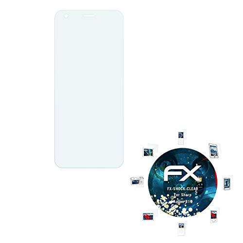 atFolix Schutzfolie kompatibel mit Sharp Aquos B10 Panzerfolie, ultraklare & stoßdämpfende FX Folie (3X)