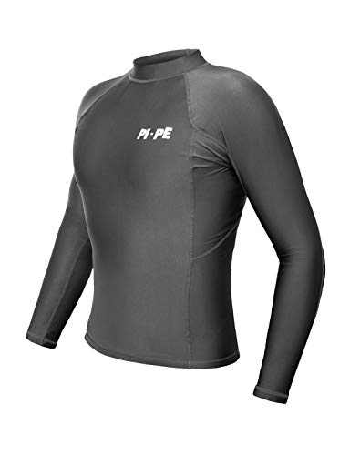 PI-PE Rash Guard Herren L/S Long Sleeve Grey L