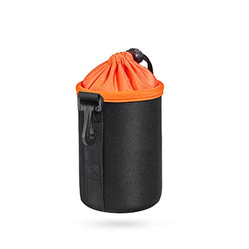 Portable Waterproof Protector Camera Lens Case Photo DSLR Lens Drawstring Pouch Thickness Soft DSLR Lens Bag Medium Drawstring Pouch
