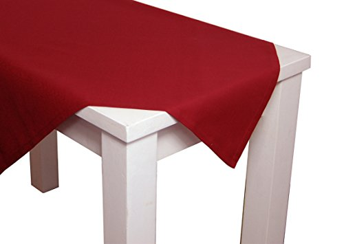 beties Farbenspiel Tischdecke ca. 130x190 cm Baumwoll-Serie in Uni (Karmin-rot)
