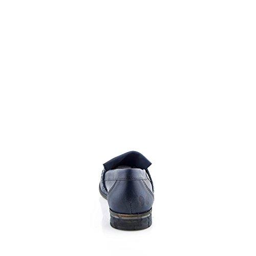 Felmini - Scarpe Donna - Innamorarsi com Cuba 9291 - Mocassini - Pelle Genuina - Blu Blu