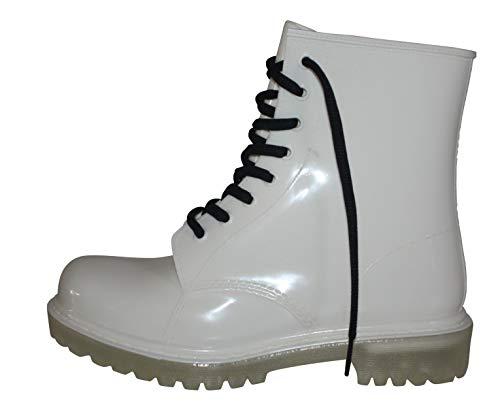 Erogance Damen Gummistiefel Regen Stiefel Stiefeletten Boots AG01 / EU 43