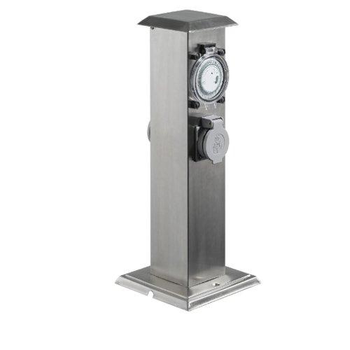 Preisvergleich Produktbild Steckdosensäule mit mechanischer Zeitschaltuhr