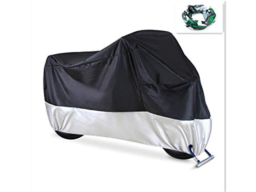 Price comparison product image Manfâ Moped cover Waterproof Motorcycle Cover, All Season Motorcycle Covers with Lock Holes, for Honda,  Yamaha,  Suzuki,  Harley, XXL