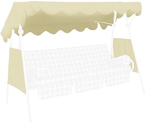 Angerer Toit balancelle 200 x 120 cm, qualité Swingtex, couleur ivoire