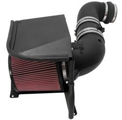 K&N Performance Air Intake Kit 57-3077 with Lifetime Red Oiled Filter for 2011-2014 Chevrolet Silverado 2500 HD/3500 HD, GMC Sierra 6.6L Duramax V8 Diesel by K&N - Sierra 2500 Hd