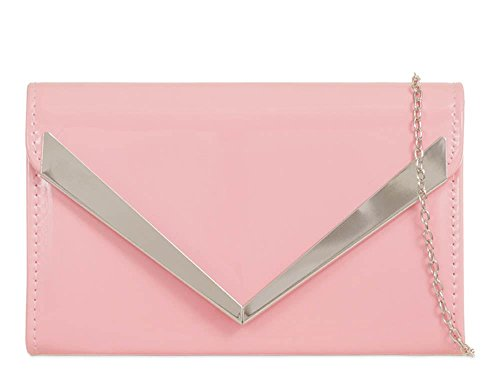 Hautefordiva , Damen Clutch fuchsia M rose